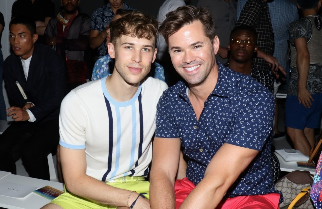 Tommy Dorfman and Andrew RannellsParke and Ronen show, Front Row, Spring Summer 2018, New York Fashion Week Men's, USA - 12 Jul 2017