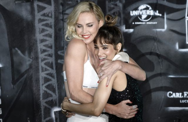 "Charlize Theron, Sofia Boutella, ""Atomic Blonde"" premiere, Berlin"