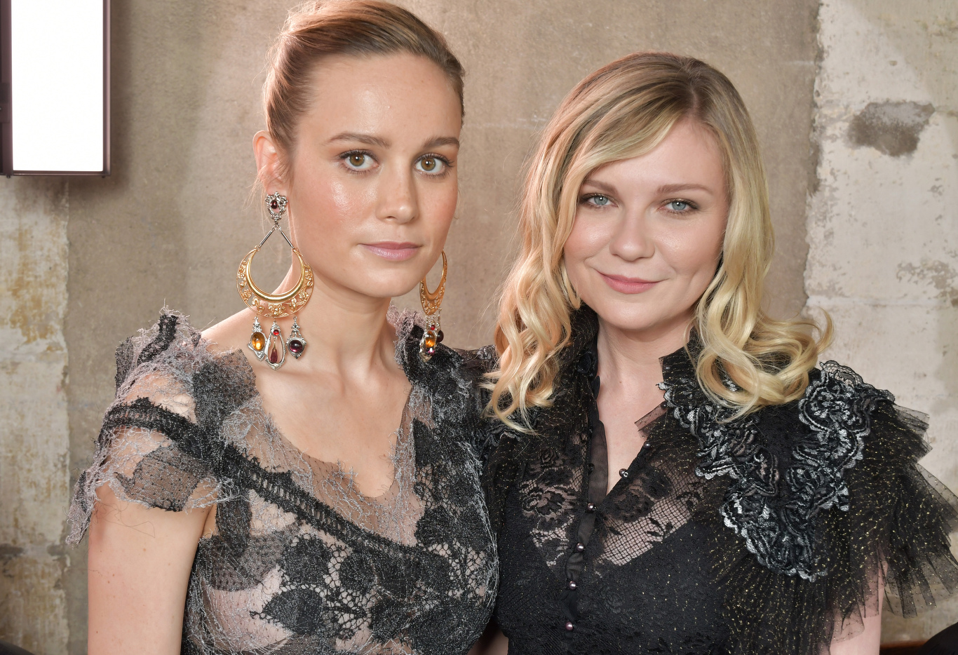 Brie Larson and Kirsten Dunst in the front row
