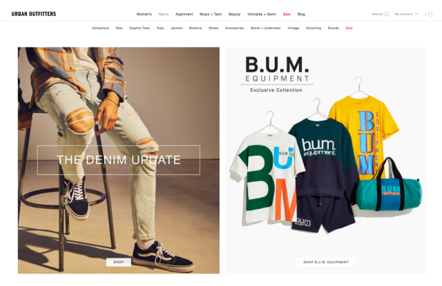 The new Bum Equipment line, available at Urban Outfitters.
