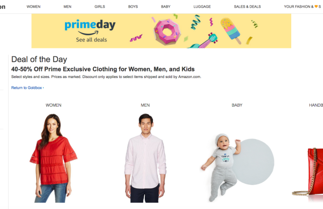 Amazon's Prime Day boosted apparel sales.
