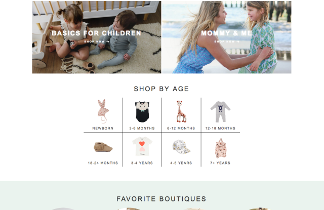 The new Shopkids.com platform.