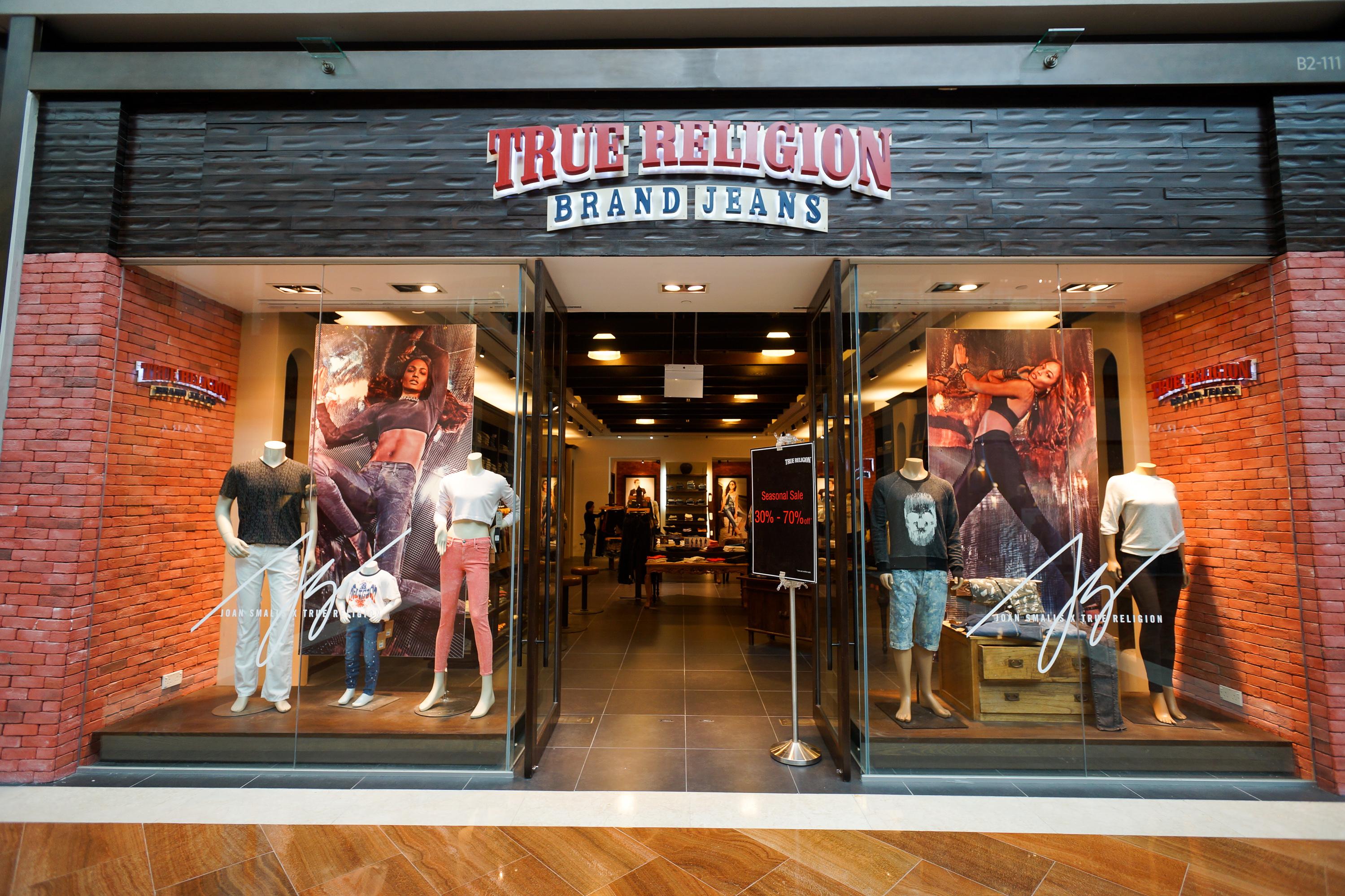 A True Religion storefront.