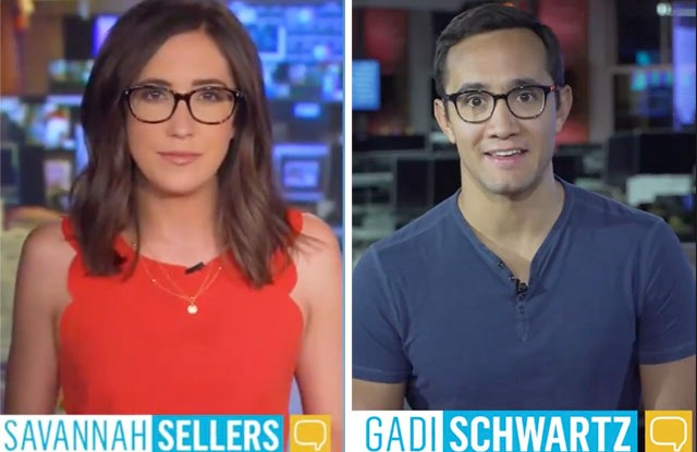 Stay Tuned co-hosts Savannah Sellers and Gadi Schwartz