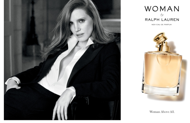 Jessica Chastain is the face of Woman by Ralph Lauren.