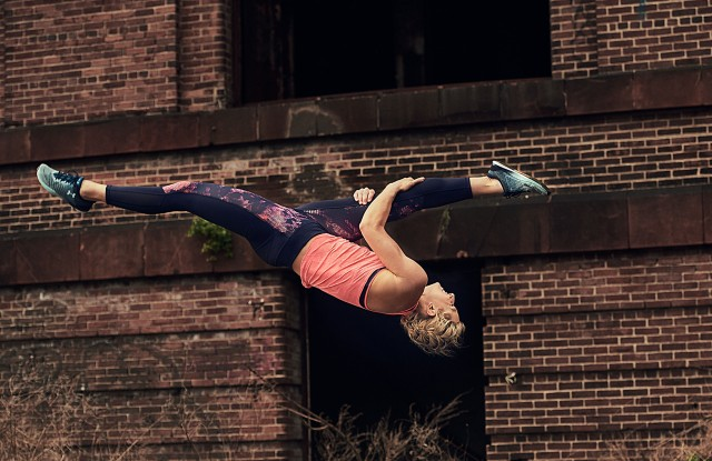 "Under Armour's ""Unlike Any"" campaign featuring  Jessie Graff."