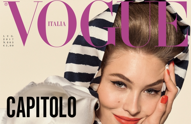 Vogue Italia's July cover shot by Steven Meisel