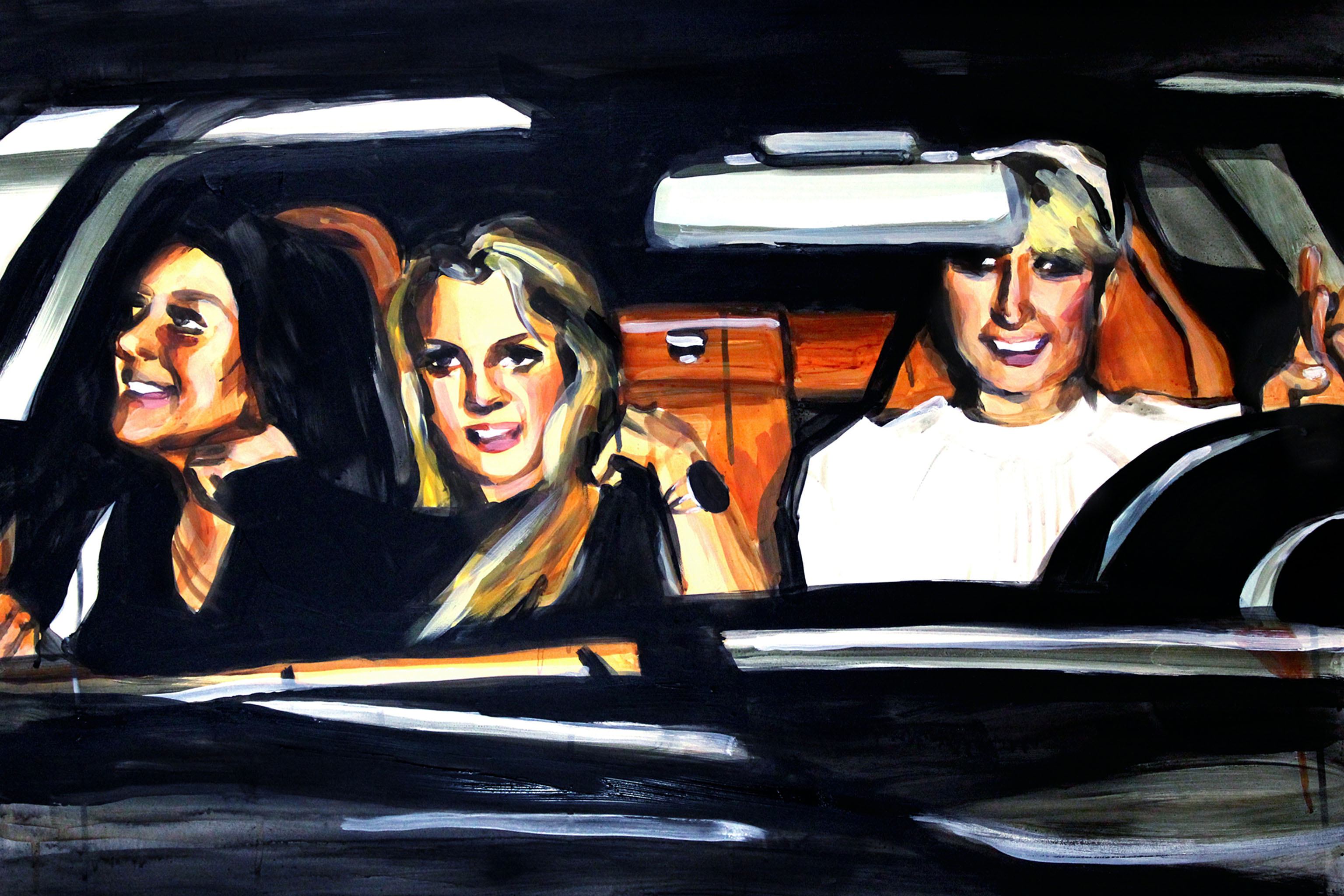'Lindsay Lohan Britney Spears and Paris Hilton in a Car' by Laura Collins