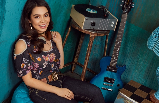 Auli'i Cravalho in WallFlower Jeans