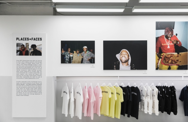 The Hypebeast and Places+Faces collaboration is half store, half photo exhibition.