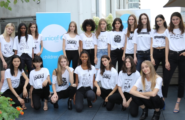 IMG Models wearing the #modelcitizen T-shirts.