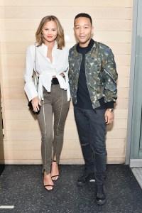 """Chrissy Teigen and John Legend attend INTERMIX x A.L.C """"On Duty"""" Launch Dinner"""