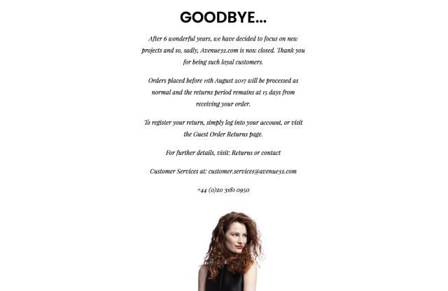 A screenshot of Avenue 32's website