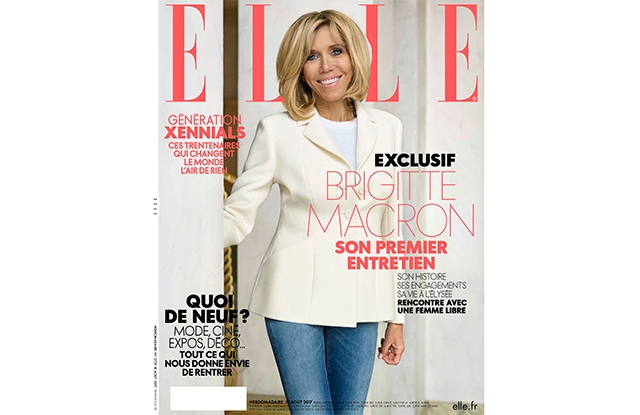 Elle France's Brigitte Macron cover.