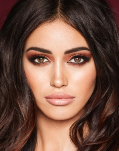 Charlotte Tilbury's newly launched make up wardrobe campaign features 10 different looks as modeled by Cindy Kimberly.
