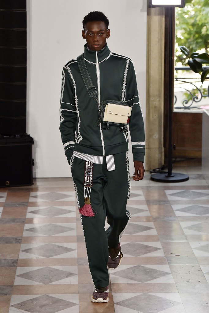 A look from Valentino Men's Spring 2018.