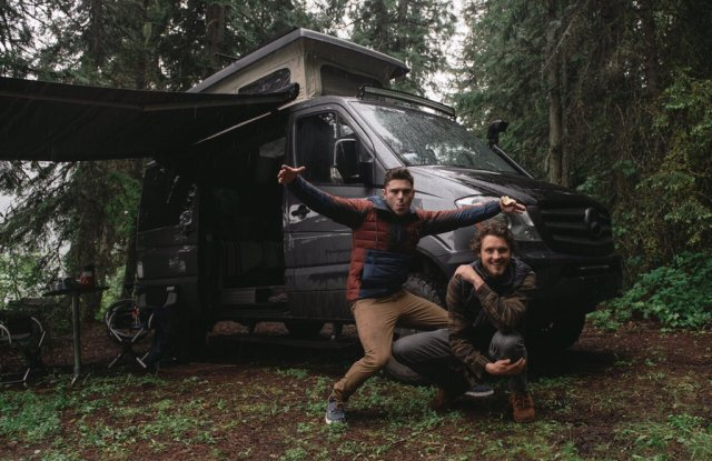 Zac Efron and his brother Dylan in the great outdoors.