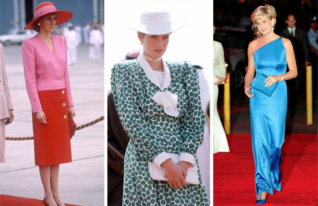Princess Diana's looks through the years.