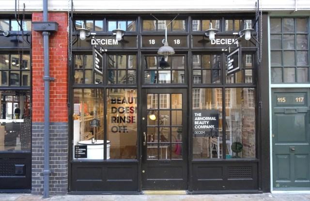Deciem's London storefront.