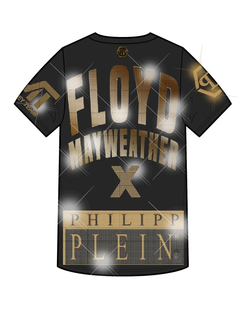 Sketch of a Floyd Mayweather X Philipp Plein shirt.