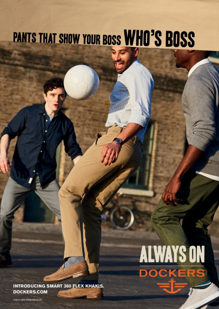An ad from Dockers' new campaign.