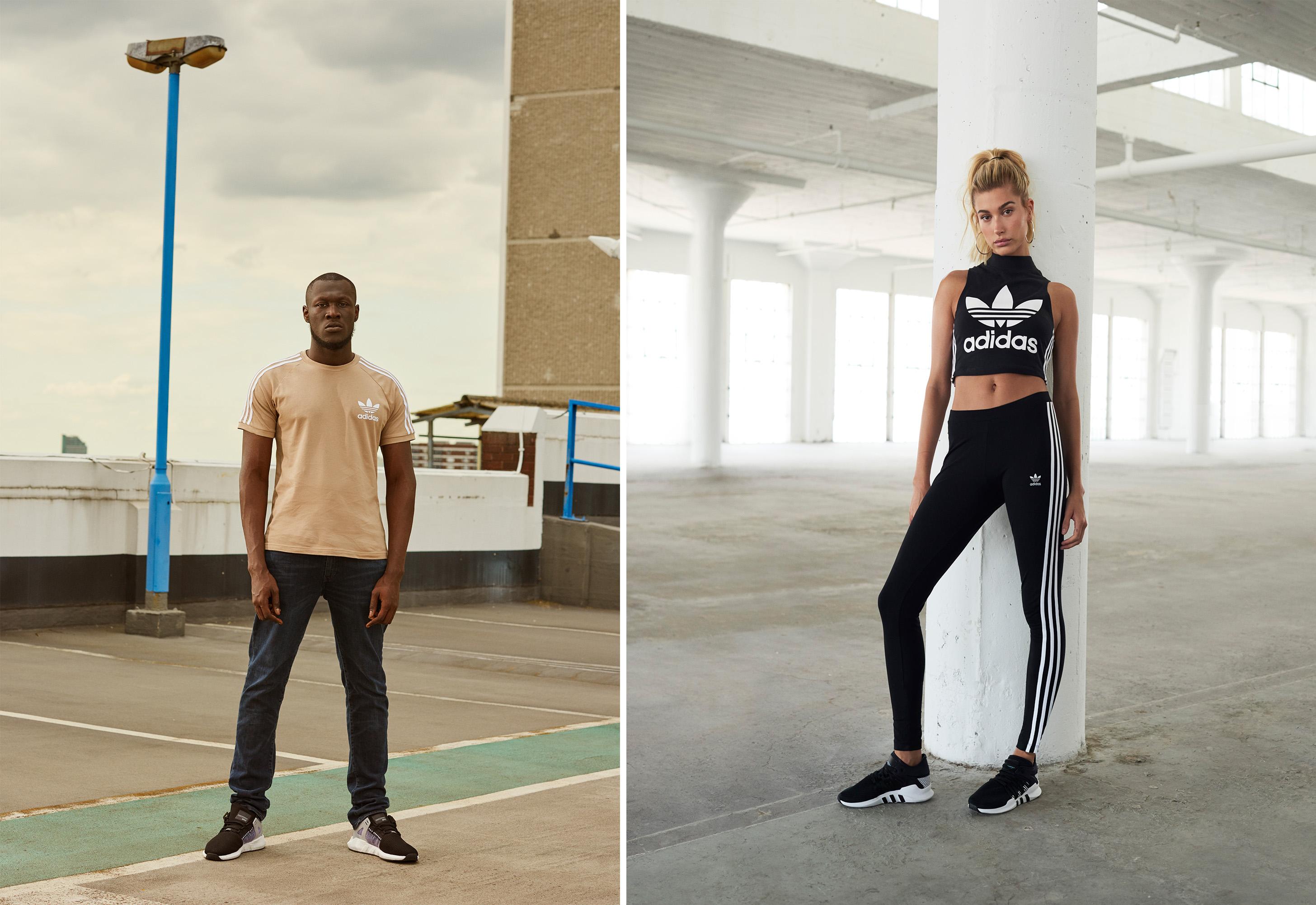 adidas jd sports eqt tap hailey baldwin and stormzy for eqt campaign wwd adidas jd sports eqt tap hailey