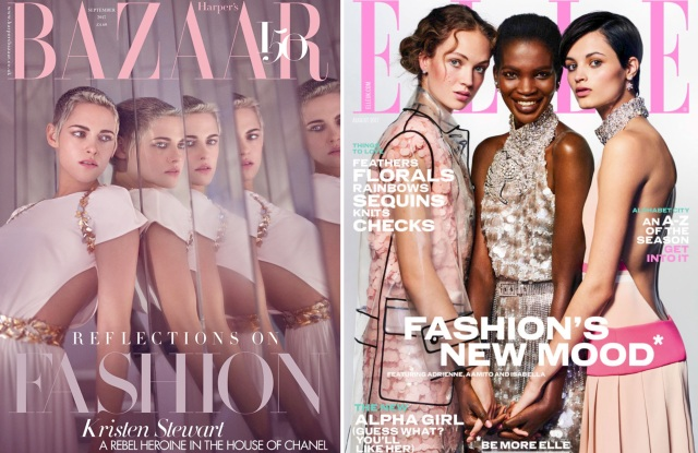 The covers of Harper's Bazaar UK and Elle UK