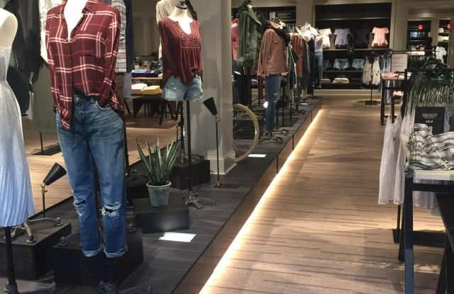 The runway feature at select Abercrombie stores.