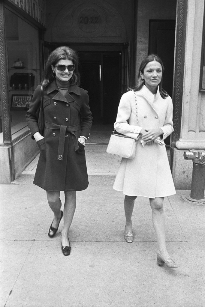 Jacqueline Kennedy Onassis and her sister Lee Radziwill.