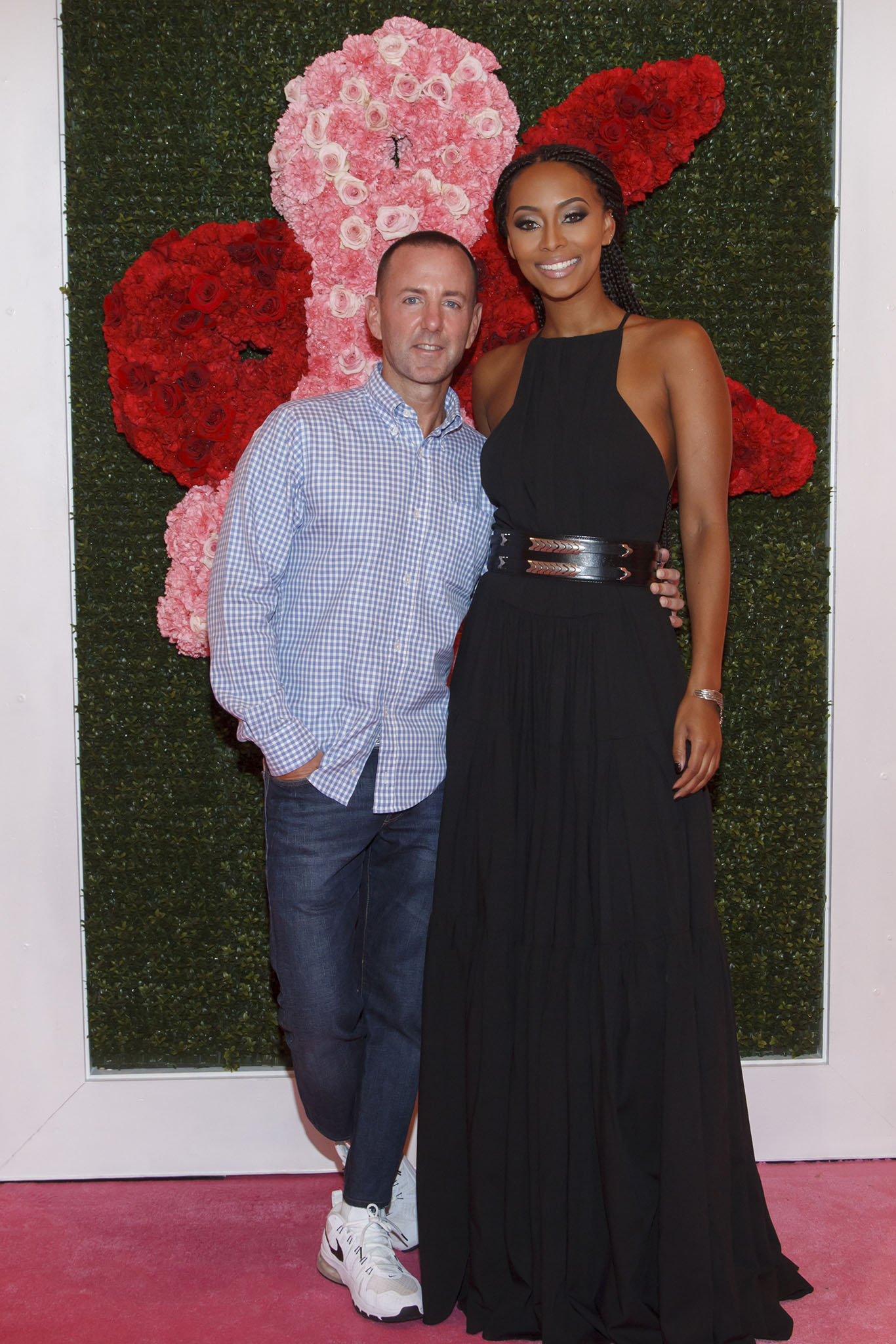 Jeffrey Kalinsky and Keri Wilson at the Jeffrey Fashion Cares Charity show, 2015.