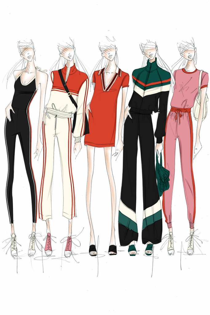 Juicy Couture Black Label SS18 Sketches