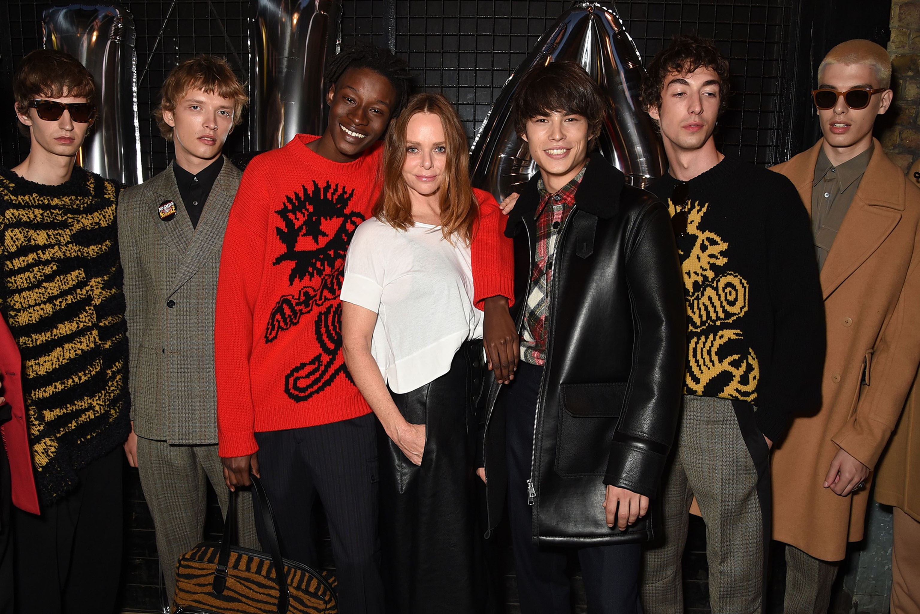 Stella McCartney with models at her Spring 2018 collection and film launch