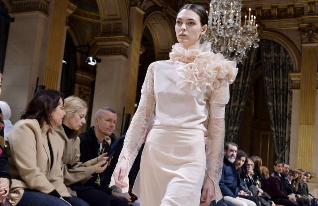Model on the catwalkLanvin show, Autumn Winter 2017, Paris Fashion Week, France - 01 Mar 2017