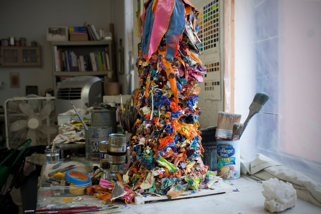 A look at Leslie Wayne's studio.