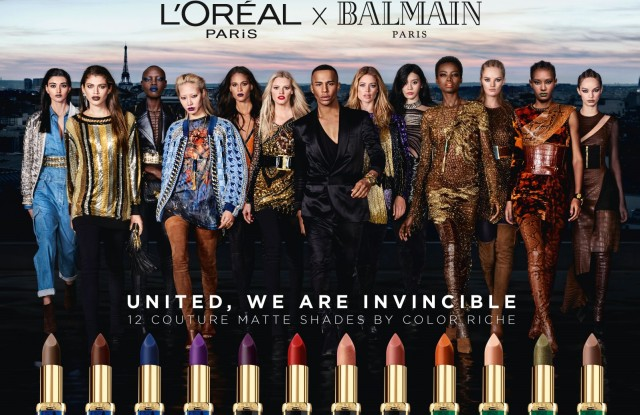The L'Oréal Paris x Balmain Paris campaign.