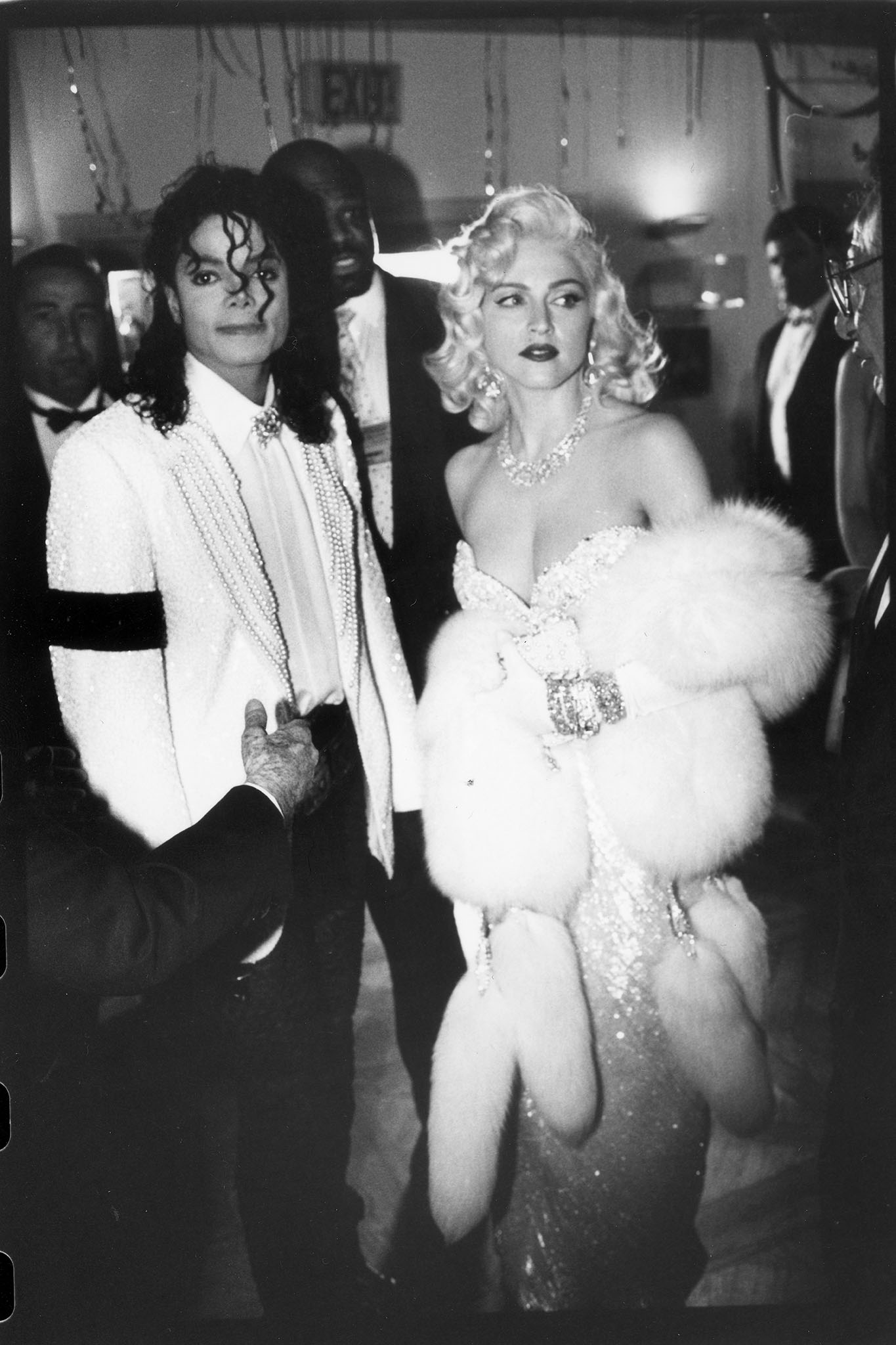 """Madonna and Michael Jackson attend Swifty Lazar's after party for the Academy Awards on March 25, 1991 in Los Angeles, California.Article title: """"Eye: To Tell the 'Truth' """""""