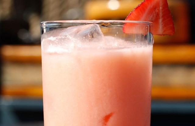 Spirit Animal: light rum, Aperol, coconut, lemon, strawberry