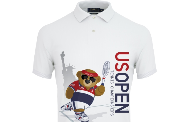 The Polo Bear is featured on Polo's U.S. Open customized shirt.