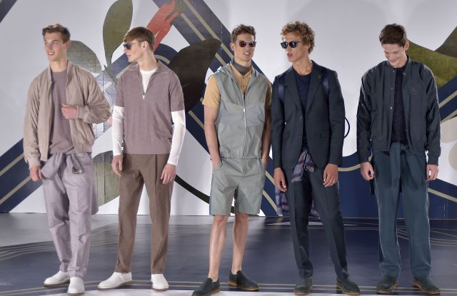 Models on the catwalkPerry Ellis presentation, Spring Summer 2017, New York Fashion Week: Men's, USA - 11 Jul 2016