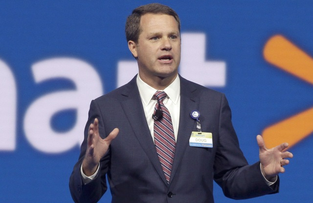 Doug McMillon Wal-Mart Store, Inc., Chief Executive Officer Doug McMillon speaks at the Wal-Mart shareholder meeting in Fayetteville, ArkWal Mart Annual Meeting, Fayetteville, USA
