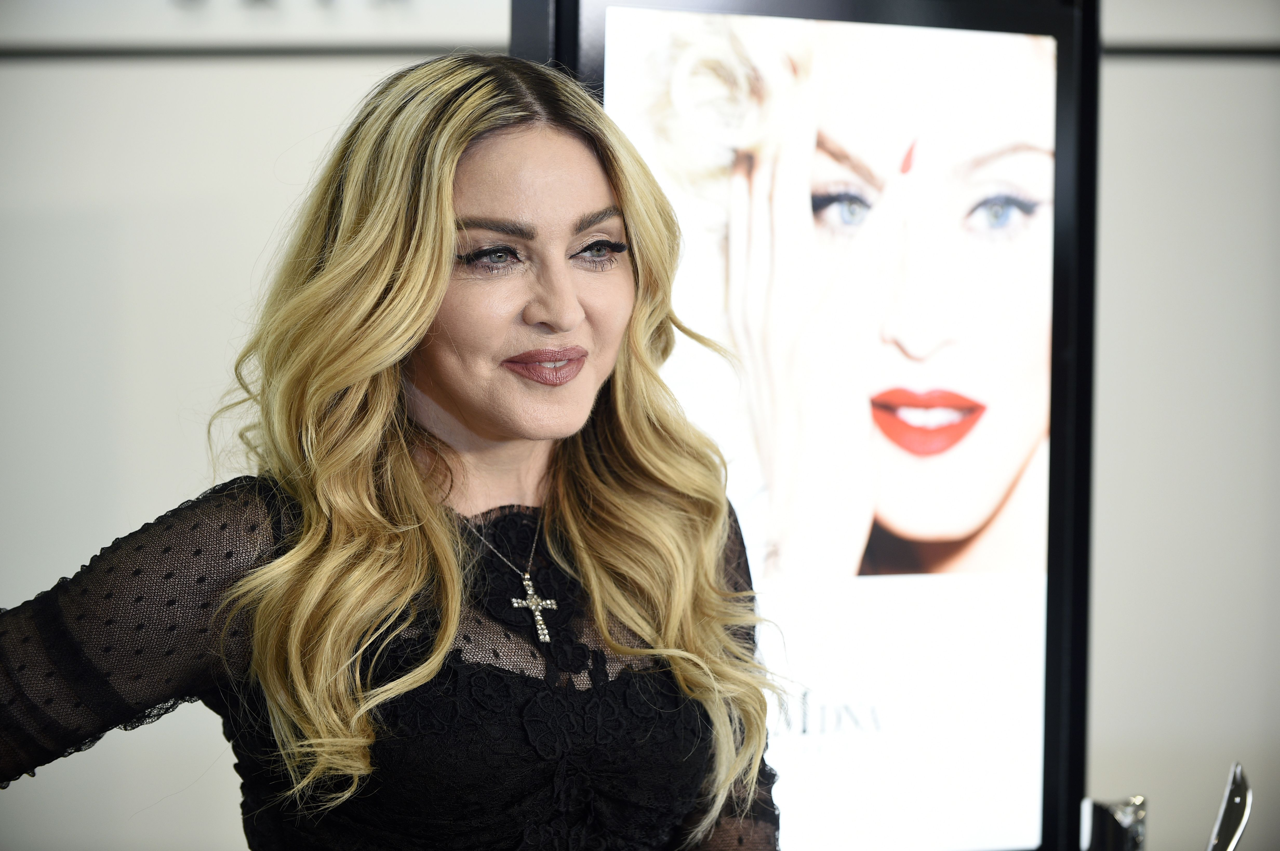 Us Singer Songwriter and Actress Madonna Poses During a Promotional Event in Tokyo Japan 15 February 2016 the Event was to Promote 'Mdna Skin' Skin Care Brand a Cosmetic Line Created by Madonna in Collaboration with Mtg Japan TokyoJapan People Madonna - Feb 2016
