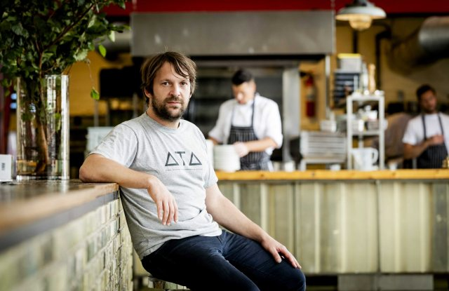 Danish Chef Rene Redzepi the Co-owner of the Restaurant Noma in Copenhagen Poses For the Photographer Prior to the 'Ants on a Shrimp' Premiere in Amsterdam the Netherlands 01 September 2016 the Documentary is About the Chef-cook who Along with His Team Enters the Biggest Culinary Experiment in His Life Netherlands AmsterdamNetherlands Denmark Gastronomy - Sep 2016