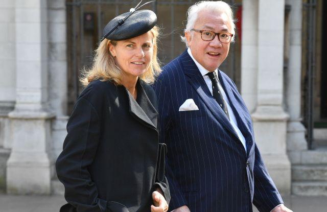 Sir David Tang and Lady Lucy Tang on April 7, 2017.