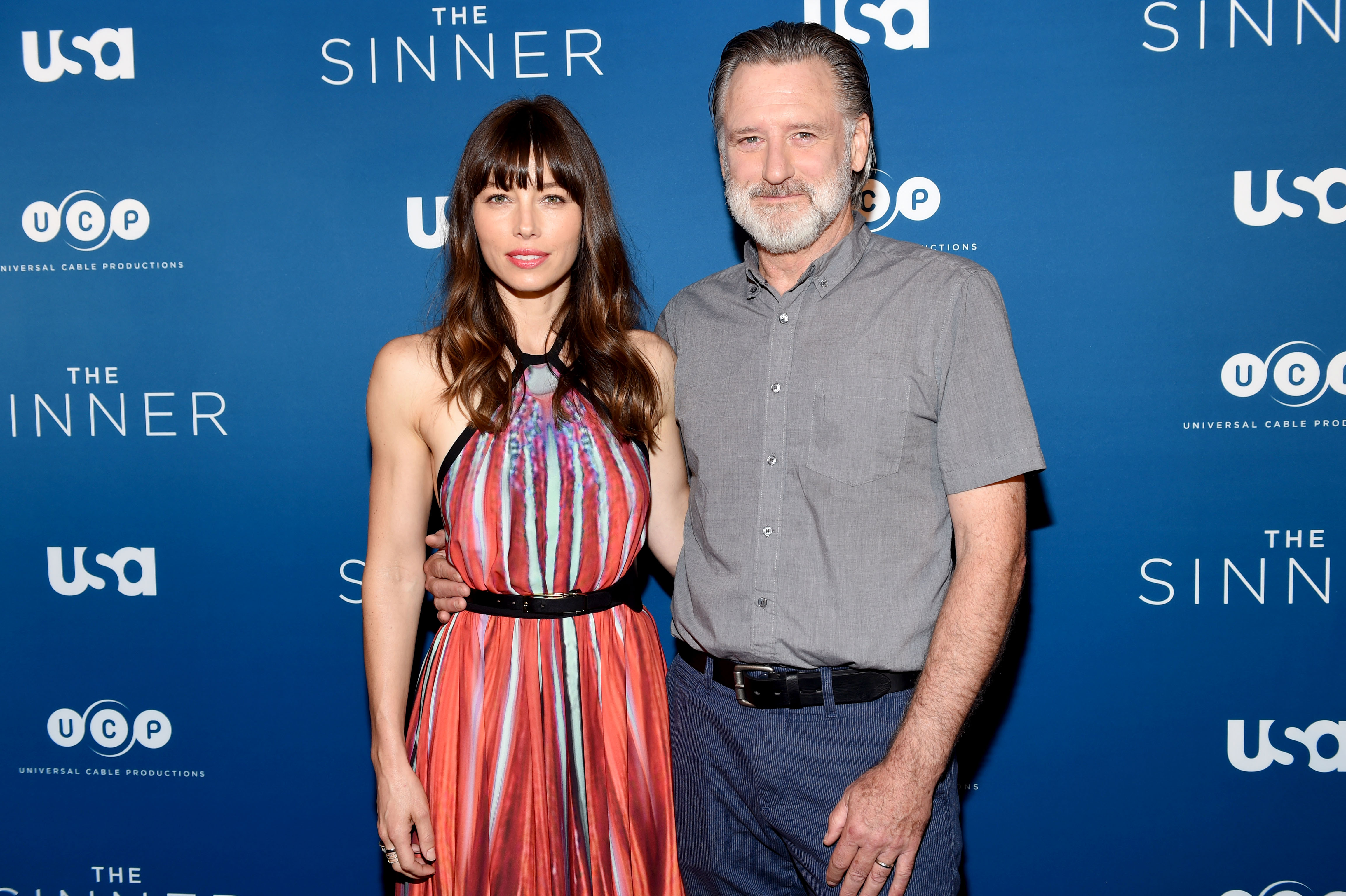 Jessica Biel, Bill Pullman'The Sinner' film premiere, Arrivals, New York, USA, 31 Jul 2017