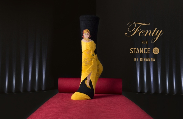 """A look from the """"Rihanna Award Show Box"""" from Rihanna's Fenty for Stance collection."""