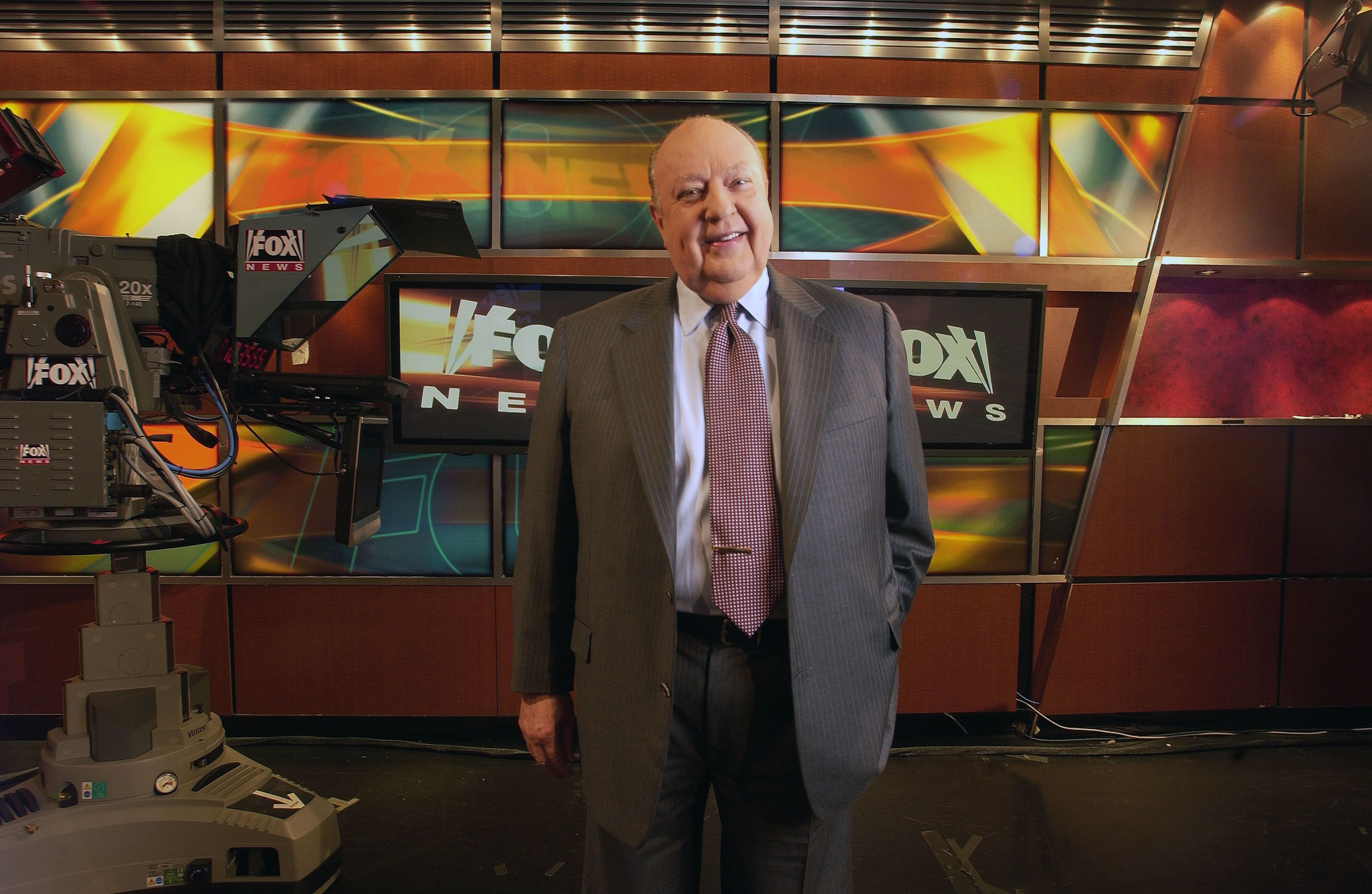 Roger Ailes Fox News CEO Roger Ailes poses at Fox News studio in New York. At age 76, Ailes has been vanquished from Fox News Channel, which he masterminded almost 20 years ago and had lorded over ever since. Little more than two weeks ago, a lawsuit filed by former Fox News host Gretchen Carlson charged him with sexual harassment. He denied her allegations, and those from other past and present female co-workers who spoke up after her. But with blistering speed his reign endedTV-Fox-Ailes-Analysis, New York, USA