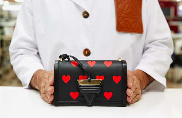 A limited-edition Loewe Barcelona bag to be sold on a Tmall pop-up for Chinese Valentine's Day.