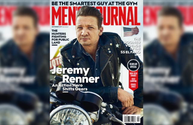 Jeremy Renner on the cover of Men's Journal.