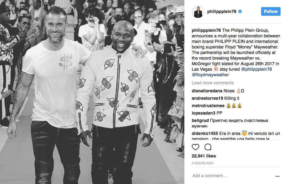 Philipp Plein's Instagram account.