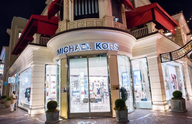 A Michael Kors store front.
